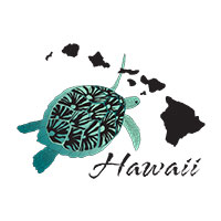 Hawaii turtle and islands shirt