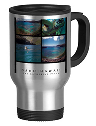 hanauma bay oahu hawaii coffee cup
