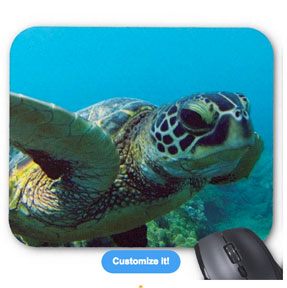 hawaii turtle mouse pad