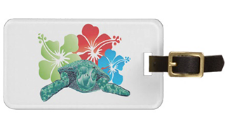 hawaii turtle luggage tag